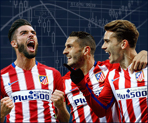 Plus500 is de hoofdsponsor van Atletico Madrid